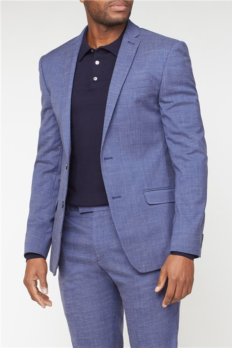 Limehaus Mid Blue Fleck Slim Fit Suit