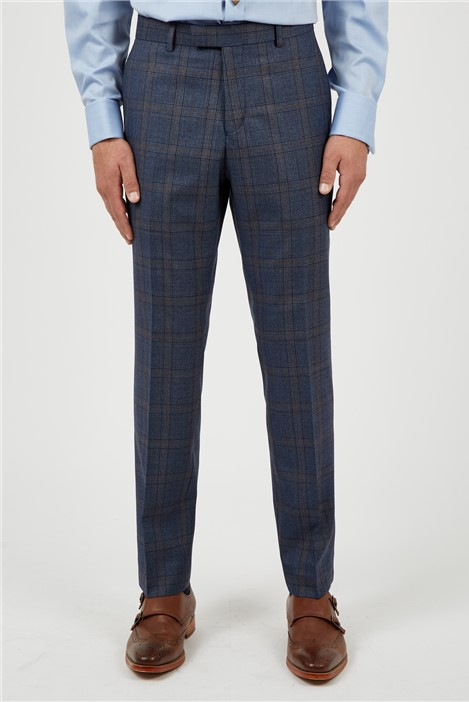 Racing Green Airforce Rust Check Suit Trousers