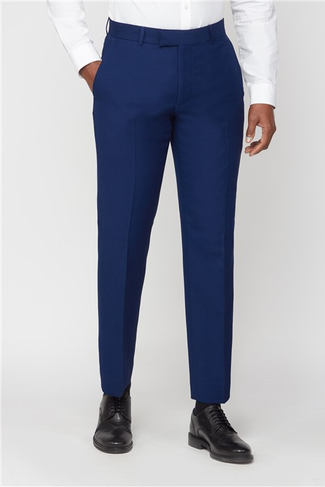Scott & Taylor Blue Structured Suit Trousers