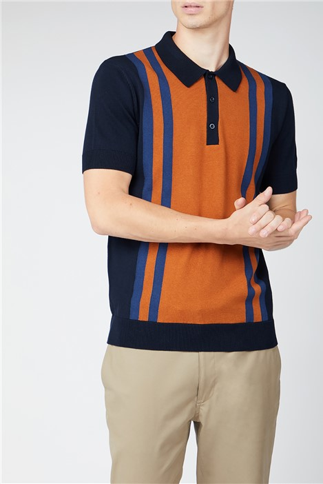 Ben Sherman Mod Stripe Short Sleeve Polo Knit