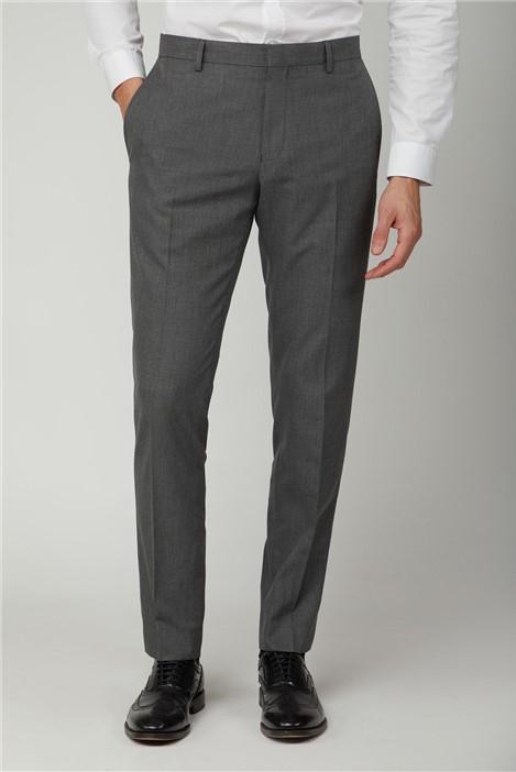 Limehaus Grey Melange Slim Trousers