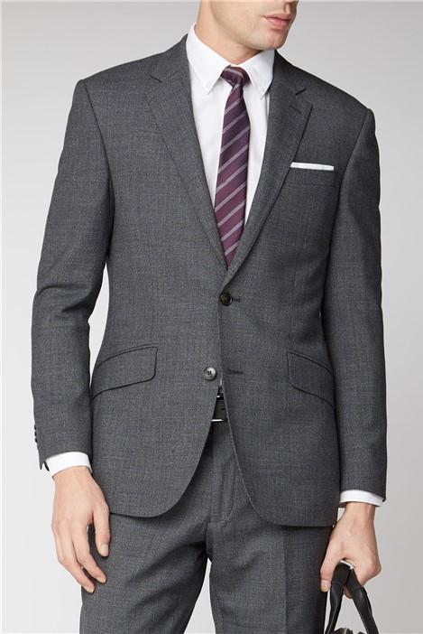 Charcoal Semi Plain 2 Piece Suit