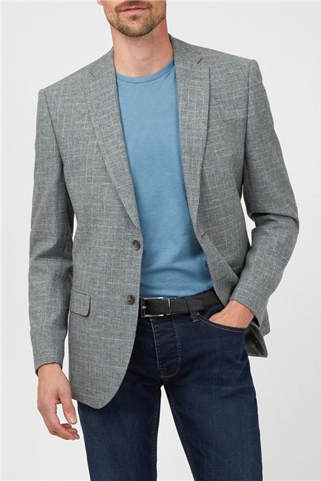 Alexandre of England Light Grey Broken Check Suit Jacket