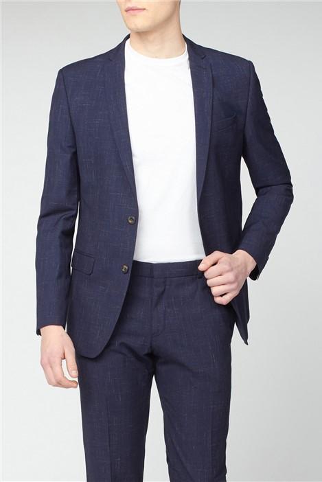 Ben Sherman Midnight Navy Fleck Slim Fit Suit