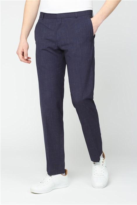 Ben Sherman Midnight Navy Fleck Slim Fit Trouser