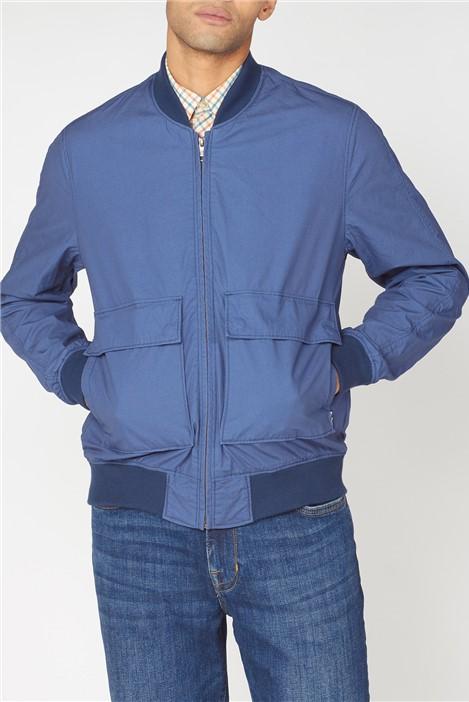 Ben Sherman Laundered Indigo Bomber Jacket