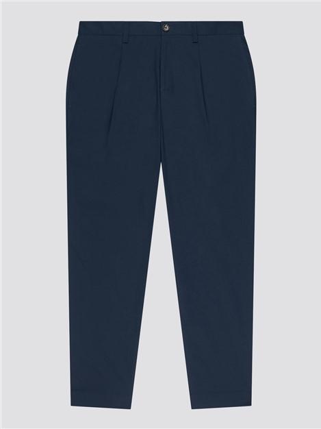 Ben Sherman  Poplin Relaxed Taper Pleat Trousers