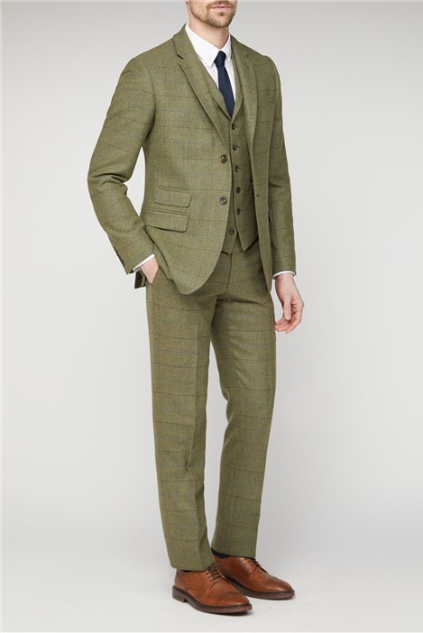 Racing Green Green Heritage Check Tailored Fit Suit Jacket