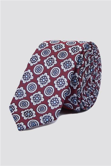 Jeff Banks Brit Artistic Wine Tile Tie