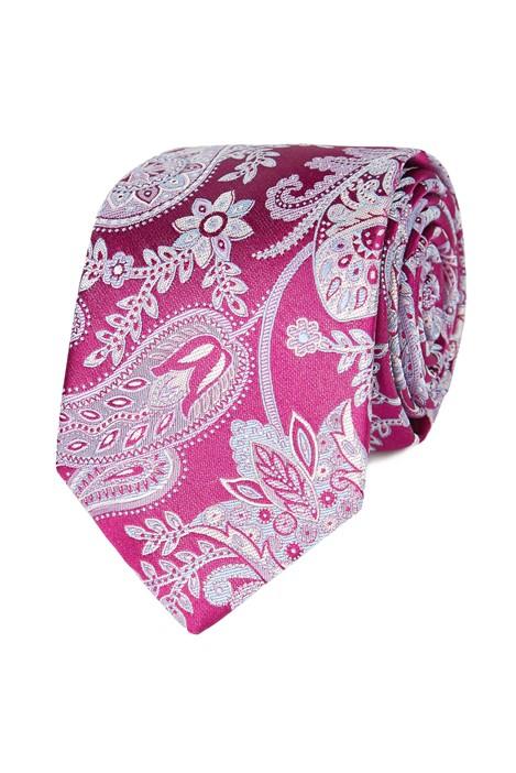 Jeff Banks Magenta Paisley Silk Tie