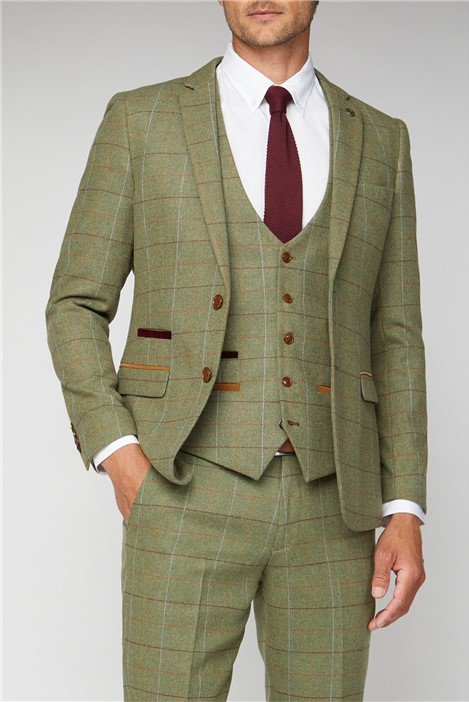Marc Darcy Ellis Moss Green Check Jacket
