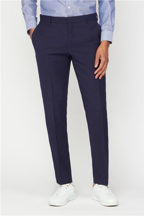 Ben Sherman Deep Blue Structure Suit Trousers