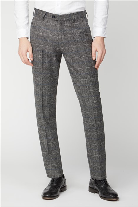 Marc Darcy Grey Tweed Check Trousers
