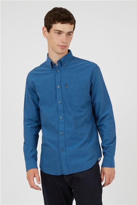 Ben Sherman Persian Blue Organic Cotton Oxford Shirt