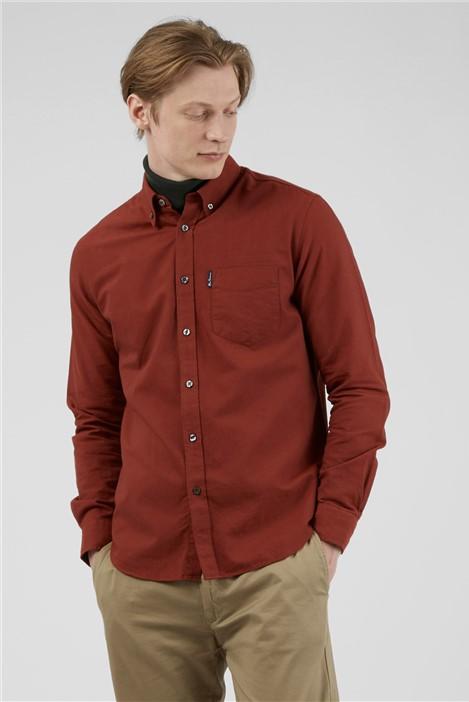 Ben Sherman Burnt Orange Organic Cotton Oxford Shirt