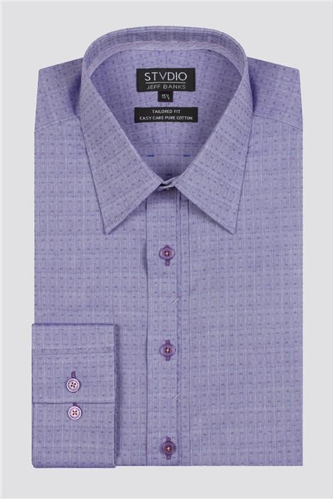Jeff Banks Stvdio Diamond Dobby Formal Shirt