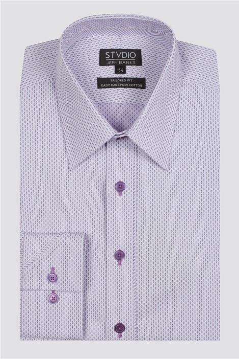 Jeff Banks Stvdio Geo Dobby Formal Shirt