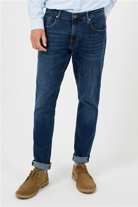 Ben Sherman Straight Stonewash Jeans