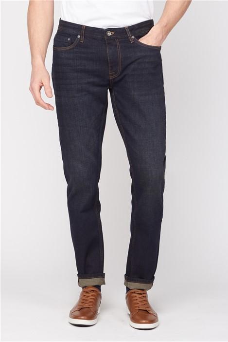 Jeff Banks Straight Fit Vintage Wash Jeans