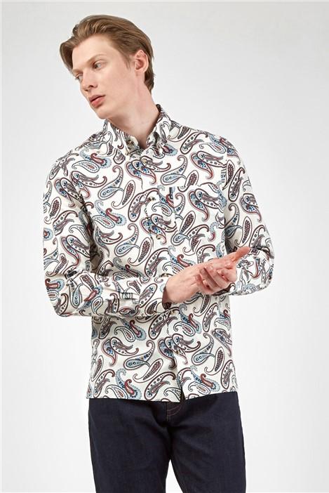 Ben Sherman Large Ivory Paisley Print Shirt