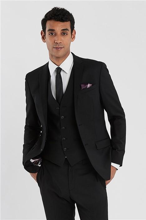 Ted Baker Black Slim Fit Stretch Suit
