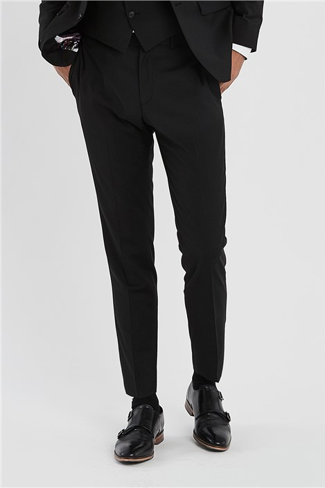Ted Baker Black Slim Fit Stretch Suit Trousers