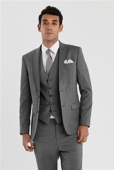 Ted Baker Grey Slim Fit Stretch Suit