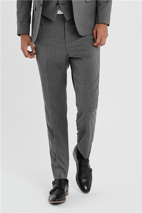 Ted Baker Grey Slim Fit Stretch Suit Trousers