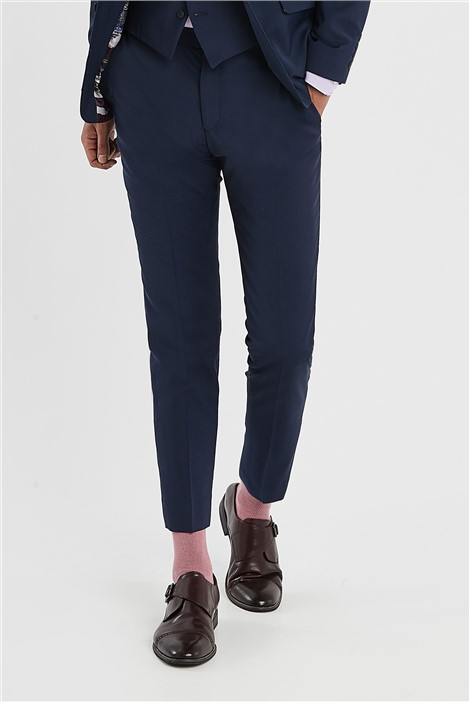 Ted Baker Blue Slim Fit Stretch Suit Trousers