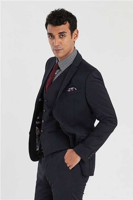 Ted Baker Navy Slim Fit Stretch Suit