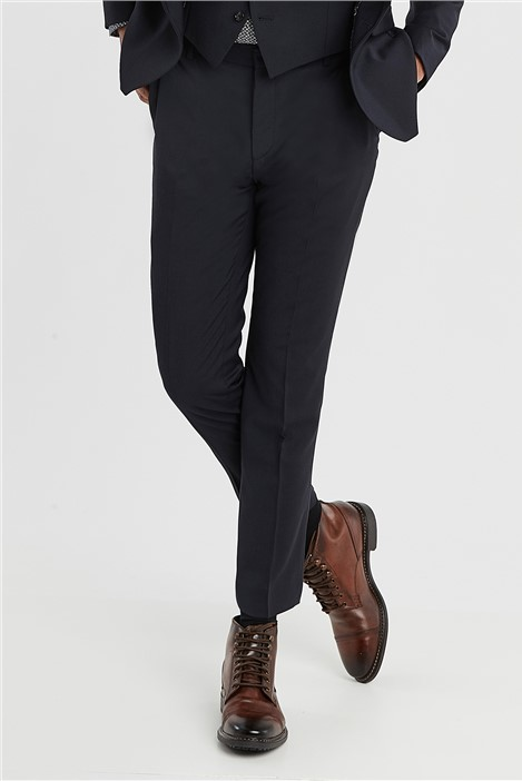 Ted Baker Navy Slim Fit Stretch Suit Trousers