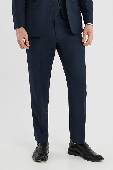 Ted Baker Deep Blue Birdseye Regular Fit Suit Trousers