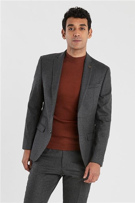 Ted Baker Grey Brushed Flannel Slim Fit Suit Jacket