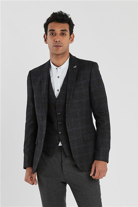 Ted Baker Charcoal Check Slim Fit Jacket