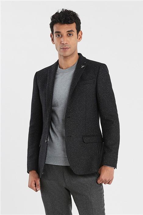 Ted Baker Charcoal Herringbone Speckle Slim Fit Jacket