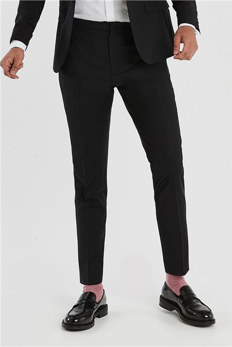 Ted Baker Black Slim Fit Tuxedo Trousers