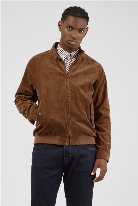 Ben Sherman Tan Cord Harrington Jacket