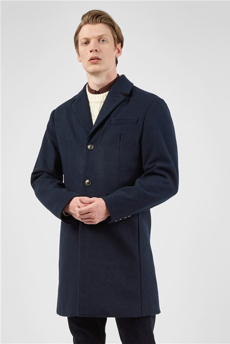 Ben Sherman The Mod Single Breasted Overcoat