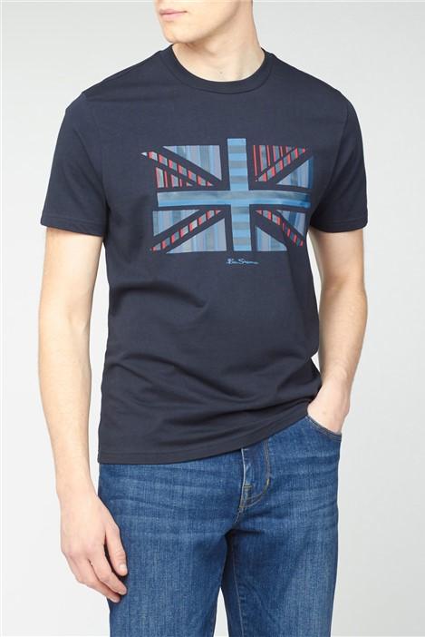 Ben Sherman Navy Influence Chevron Block T-Shirt