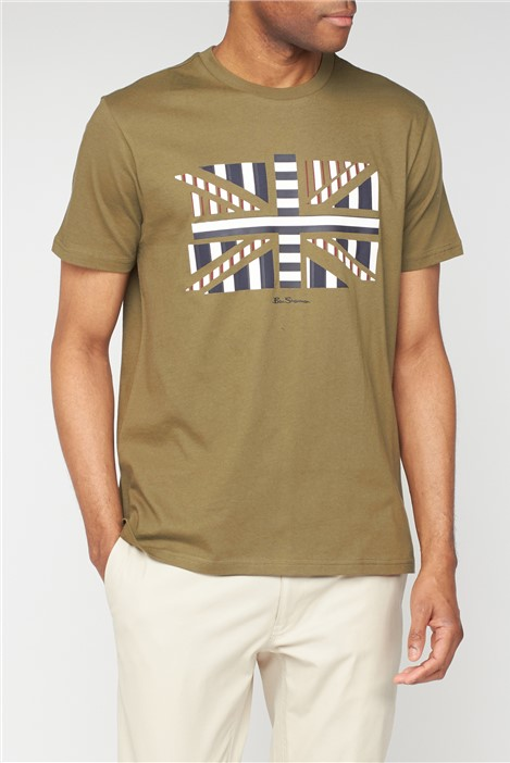Ben Sherman Influence Chevron Block T Shirt