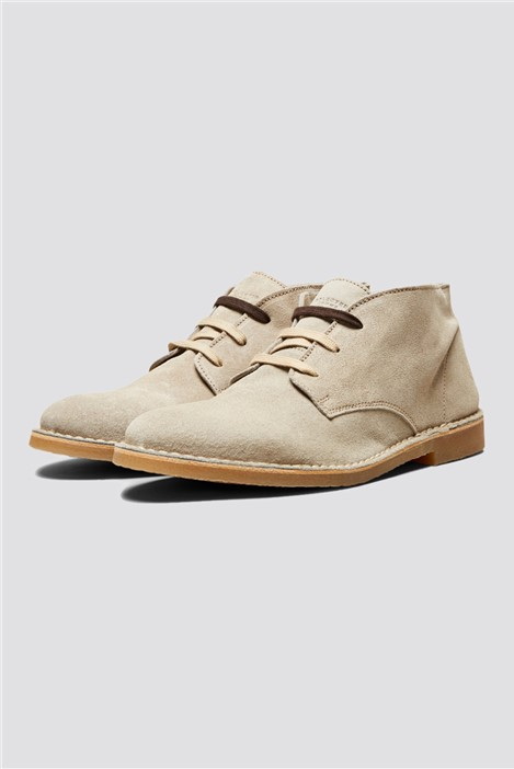 Selected Homme Royce Desert Boots in Sand