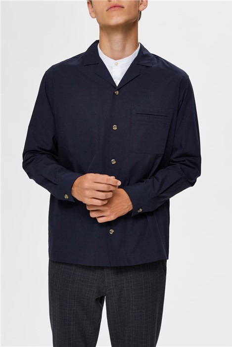 Selected Homme Morton Overshirt in Navy