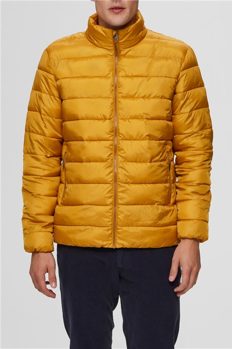 Selected Homme Puffer Jacket in Yellow