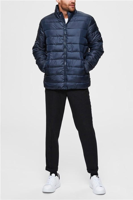 Selected Homme Puffer Jacket in Navy