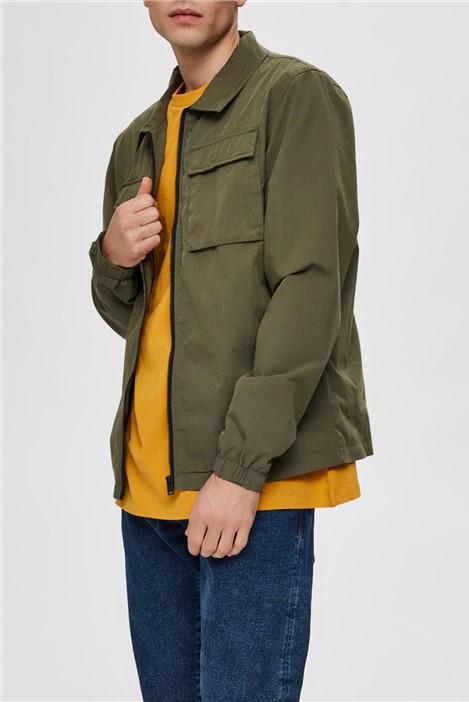 Selected Homme Niles Shirt Jacket in Khaki