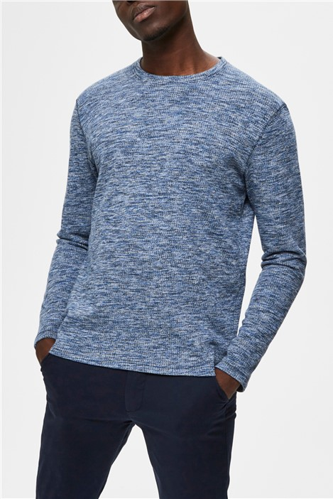Selected Homme Jay Crew Neck Sweater in Blue