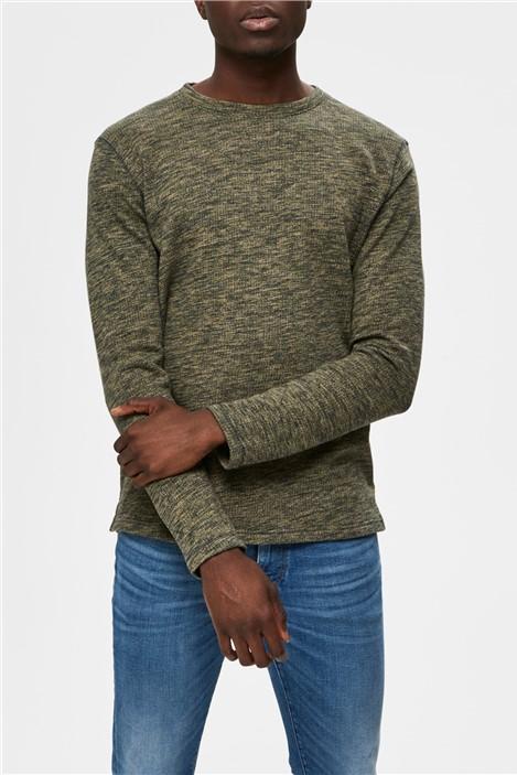 Selected Homme Jay Crew Neck Sweatshirt in Green