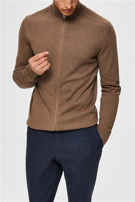 Selected Homme Berg Cardigan in Oatmeal