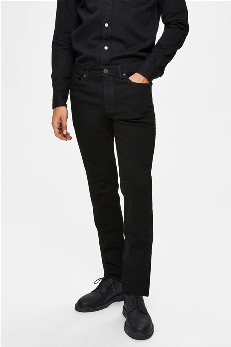 Selected Homme Leon Slim Fit Jeans in Black