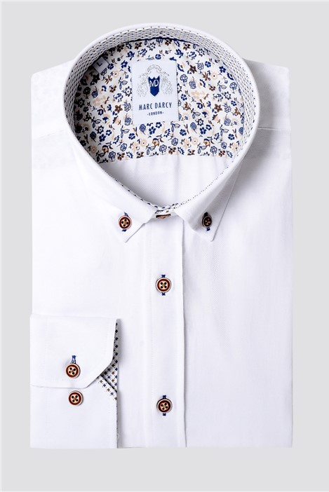 Marc Darcy Charlie White Classic Fit Shirt